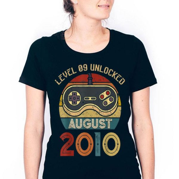 Level 9 Unlocked Since August 2010 9th Birthdays shirt