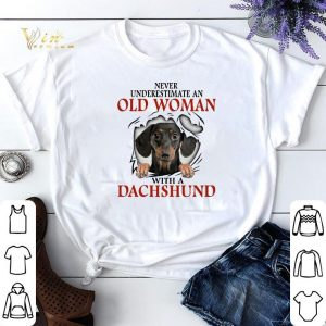 Never underestimate an old woman with a dachshund shirt sweater