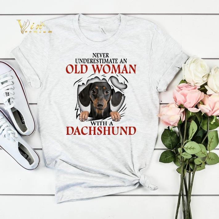 Never underestimate an old woman with a dachshund shirt sweater 4 - Never underestimate an old woman with a dachshund shirt sweater