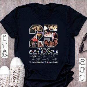 Nice 25 Years Of Friends Thank You For The Memories Signature shirt