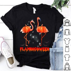 Nice Halloween Custome Flamingo Flamingween Pumpkin shirt