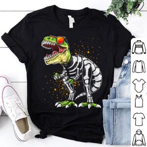 Nice Halloween T Rex Dinosaur Skeleton Costume Gift Boys shirt