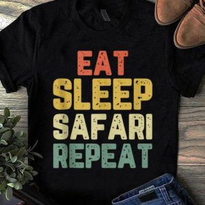 Nice Vintage Eat Sleep Safari Repeat shirt