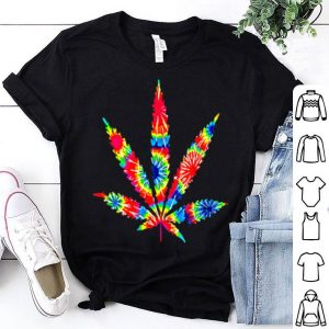 Official Cute Weed Cannabis Plant Leaf Tie Dye Silhouette shirt