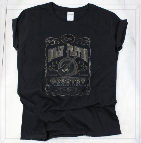 Official Dolly Parton Country Whiskey Label shirt