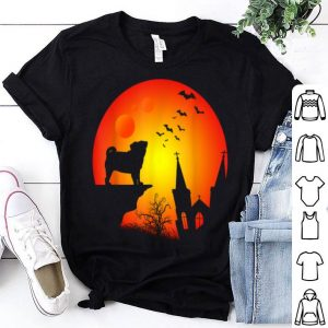 Official Full Moon Pug Lovers Halloween Gift shirt