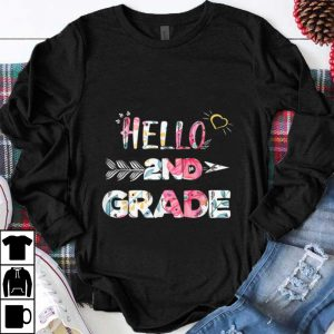 Official Hello 2nd Grade Back To Shool Floral shirt