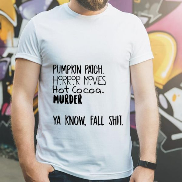 Official Pumpkin Patch Watch Horror Movie Halloween shirt