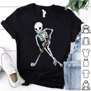 Official Skeleton Ice Hockey Halloween Funny Skull Giftss shirt
