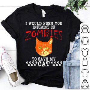 Official Zombie Cat Funny Halloween Kitten shirt