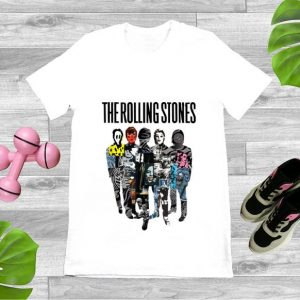 Original Rolling Stones Official Silhouette Collage shirt