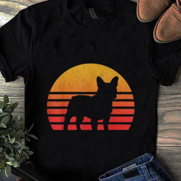 Original Vintage Retro Sunset French Bulldog Silhouette shirt
