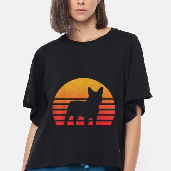 Original Vintage Retro Sunset French Bulldog Silhouette shirt