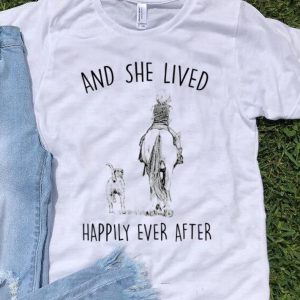 Premium And She Lived Happily Ever After Horse Dogs shirt