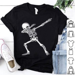 Premium Dabbing Skeleton Funny Halloween Dab Kids Adult shirt