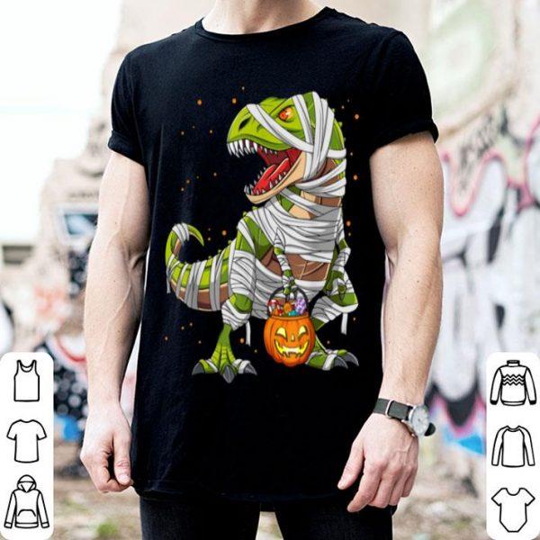 Premium Dinosaur T Rex Mummy Halloween Costume For Kids Boys Gift shirt