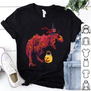 Premium Dinosaur Witches With Pumpkin Halloween Kids Gift shirt