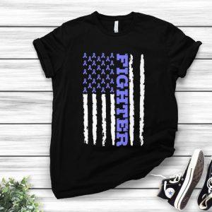 Premium Fighter Cancer Awareness American Flag shirt