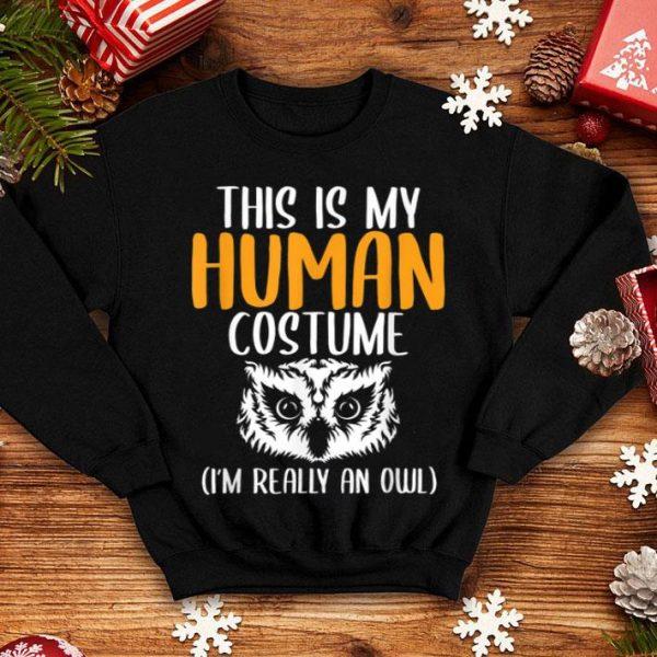 Premium Halloween Funny Adult Kid Owl Apparel, Youth Human Costume shirt