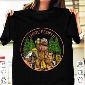Premium I hate people I eat people Bear Camping shirt