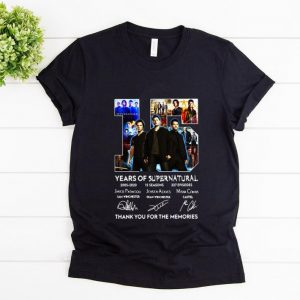 Pretty 15 Years Of Supernatural Thank For The Memories Signature shirt