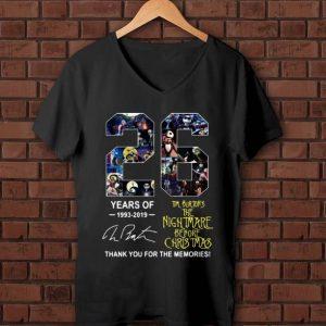 Pretty 26 Years of Tim Burton's The Nightmare Before Christmas signature shirt