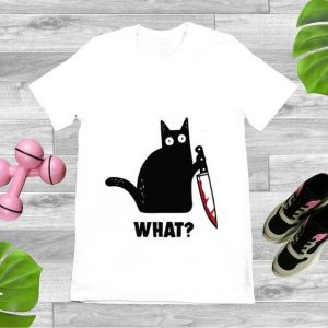 Pretty Cat What Murderous Black Cat With Knife shirt