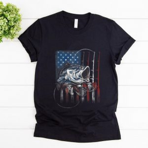 Pretty Fishing American Flag shirt