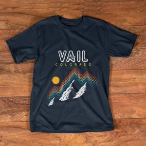 Pretty Vail Colorado USA Ski Resort 1980s shirt