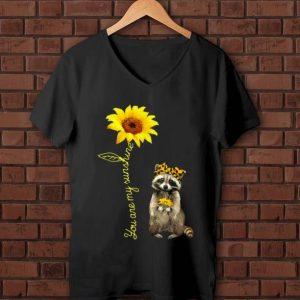 Pretty You Are My Sunshine Raccoons Sunflower shirt