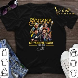 Signature Santana 60th anniversary 1960-2020 shirt
