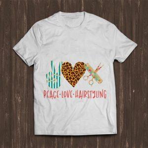 Top Peace Love Hair Styling shirt