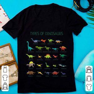 Top Types Of Dinosaurs Dino Identification shirt