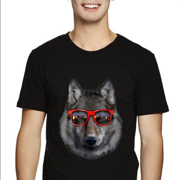 Top Wolf in Retro Sunglass Frame shirt