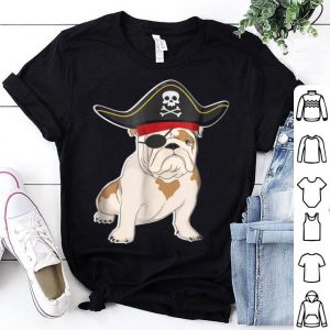 Bulldog Pirate Costume Halloween Dog Lovers shirt
