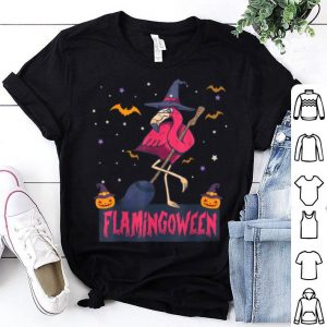 Flamingoween Funny Witch Flamingo Lover Halloween Gift shirt