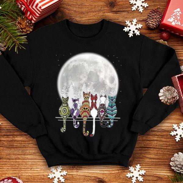 Funny Day of Dead Sugar Cat Cats Skeleton Skull Lovers shirt