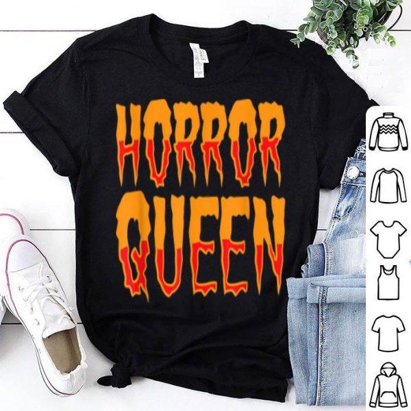 Horror Queen Movies Fan Halloween Costume Girls shirt