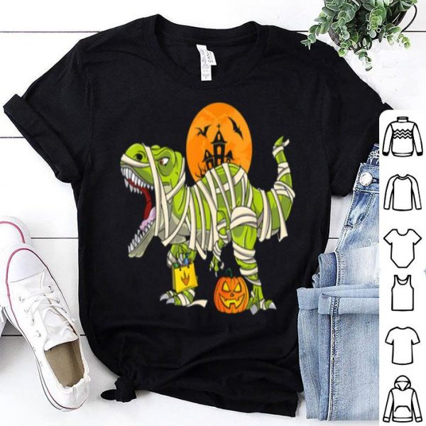 Hot Halloween For Boys T Rex Dinosaur Mummy Costume shirt