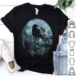 Hot Raven Moon Spooky Halloween Crow shirt