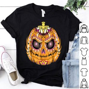 Nice Pumpkin Sugar Skull Graphic, Halloween Skull Gifts shirt
