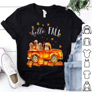 Official Halloween Hello Fall Golden Retriever Golden Retriev shirt