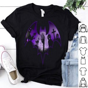 Official Halloween Men Scary Bat Zombie Hand Cemetery Pumpkin shirt