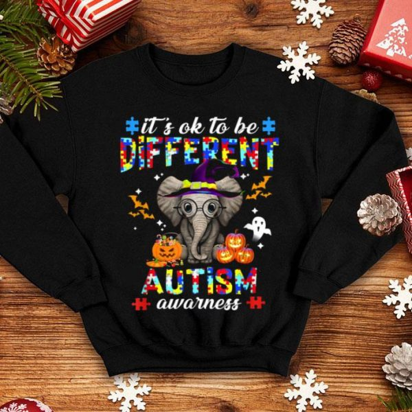 Official It's Ok To Be Different Elephant Autism Awareness shirt