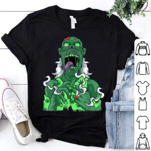 Original Marijuana Zombie Smoke Weed Cannabis 420 Pot Leaf Halloween shirt