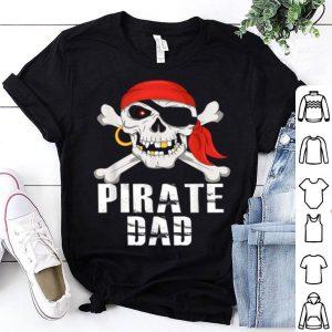 Original Pirate Dad Jolly Roger Skull Crossbones Flag Halloween Gift shirt