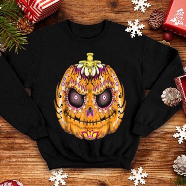 Premium Pumpkin Sugar Skull Graphic, Halloween Skull Gifts shirt