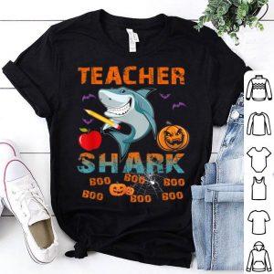 Premium Teacher Shark Boo Boo Boo-Funny Pumpkin Teacher Halloween shirt