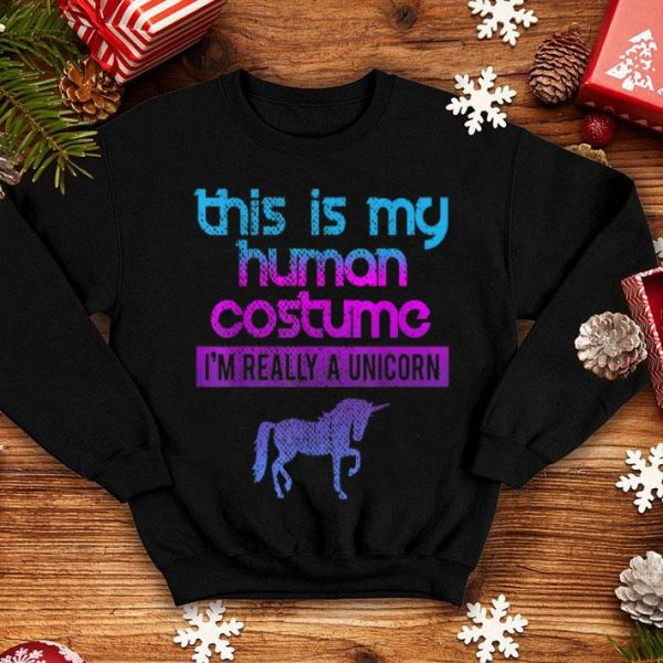 Premium This Is My Human Costume I'm Really A Unicorn shirt