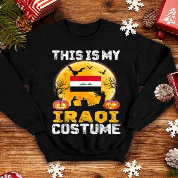 Premium This Is My Iraqi Flag Costume Halloween Iraq shirt